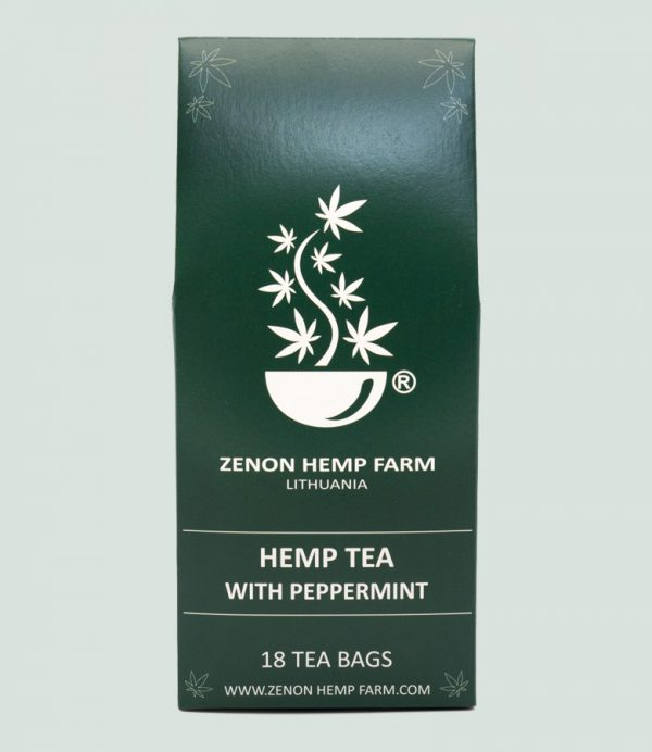 Kanapių arbata su pipirmėte zenon hemp farm cbd-oil