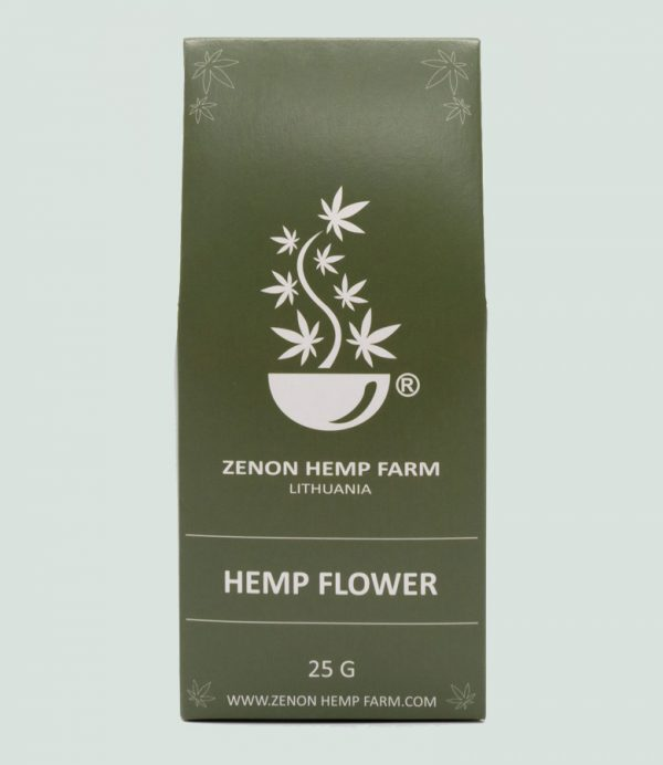 Kanapiu ziedu arbata zenon hemp farm cbd-oil